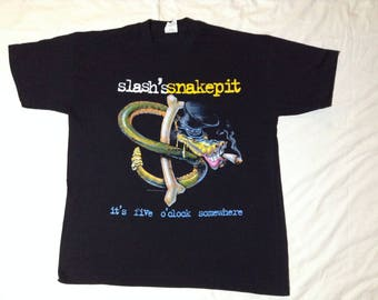 Authentic Slash'ssnakepit 'aint it good to be alive' 95 tour XL t-shirt (with stage pass)