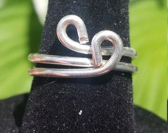Silver Wire Wrapped Simple Ring - Size 5 1/2