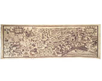 Magic castle Map REPLICA map hand aged on 200gsm 110lbs paper Not affiliated with owners of TM harry potter hogwarts the wizarding world map