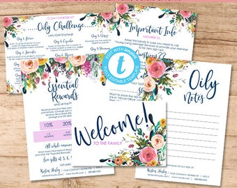 New Member Welcome Bundle, Essential Oil Distributor Kit, Editable Young Template, Printable Marketing Materials, Templett, Instant Download