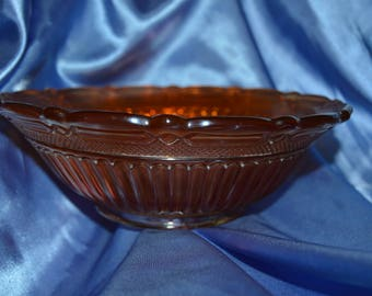 Antique Carnival Glass Bowl (681702)