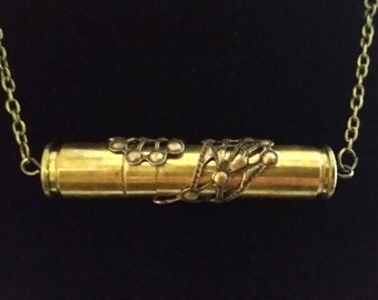 Necklace with Suspended .9 and .223 Caliber Bullet Casings