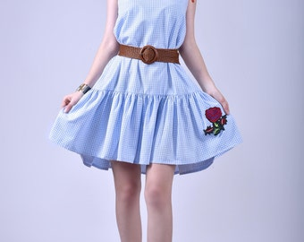 Leah dress in cotton gingham