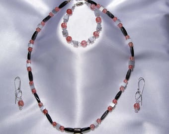 Rose Quartz Medallion Set