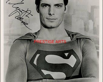 Christopher Reeve signed autograph print