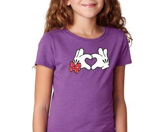 Disney Gloves - Minnie Mouse Shirt - Minnie Mouse Gloves - Mickey Mouse Gloves - Disney Shirt - Disney Girls Shirt - Disney Kids Shirt