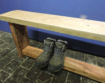 Reclaimed Wood Solid Brazilian Wooden Plank Chair Bench Dining Rustic Farmhouse