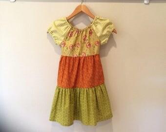 Girls ruffle dress - size 7