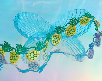 Pineapple Kawaii Fruit lace choker