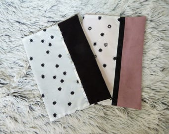 Protects book of health stars pink or black suedine