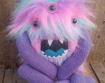 Stuffed monster, Stuffed animal, handmade monster, stuffed critter, plushie, plush monster, plush animal