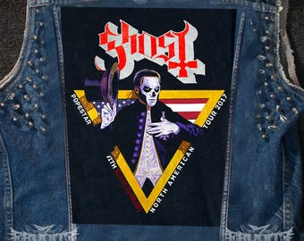 GHOST BC - Iron Maiden Tour 2017 Backpatch , Heavy Metal Back Patch
