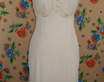 Gorgeous 1950s Slip Dress Night Gown D'SIGNER by Formula Lace Size 32