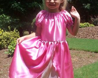 Ariel Little Mermaid pink princess ball gown dress costume