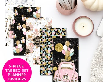 Travel Love 5-Piece Tabbed Set of Planner Dividers for Personal A5 Planner Dashboard