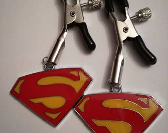Superman Nipple Clamps