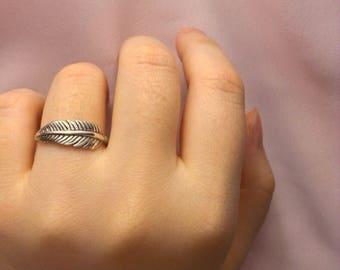 Feather Ring - Sterling Silver Feather Ring