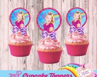 JoJo Siwa Cupcake Toppers- Instant Download! Digital File