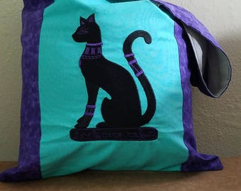 Cat Goddesses Magical Monk Bag Ready to ship In Turquise and Purple