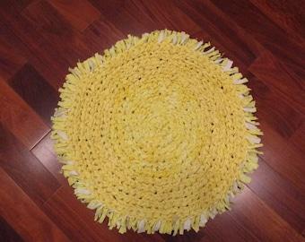 Lemonade Yellow Rag Rug