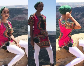 Dashiki Shirt Dress / Tunic