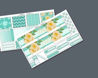 """May 2018 Monthly Planner Sticker Kit """"Flowers"""": Made to fit Erin Condren Life Planner"""