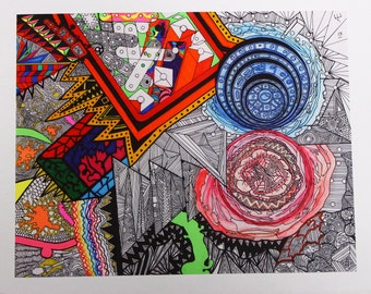 overlapping layered drawing