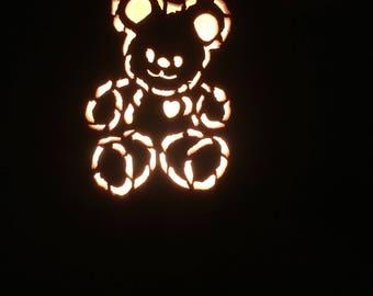 Teddy bear, Teddy, Luminary, Night light, Lamp, Nursey, Bedroom, Teddy bear Lightbox, Teddy bear light box, Home decor, Gift, Light box
