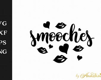 Smooches SVG Cut File
