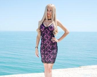 Lace dress, summer dress, black lace dress, pink dress, elegant dress, evening dress, italian fashion