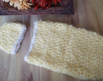 Newborn Cocoon and Hat set