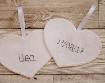 Hanging heart wedding favour, Wedding favours UK, Personalised wedding favours, Wedding gift, Wedding favour tags