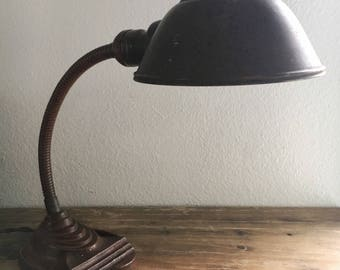 Vintage Art Deco Desk Lamp  / Vintage Home / Antique Decor / 1920s