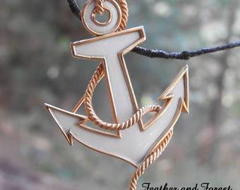 Vintage Trifari Anchor Brooch Anchor Pin Nautical Brooch Trifari Brooch