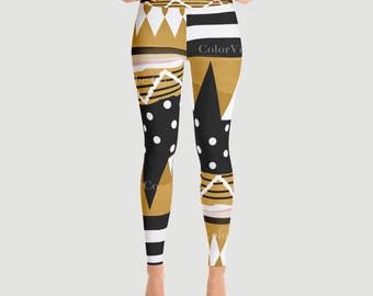Winter Wonderland-Over Yoga Leggings/ workout leggings / activewear / running leggings / wearable art