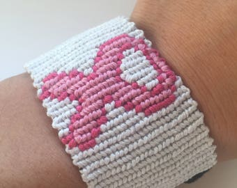 Breast Cancer Ribbon Bracelet