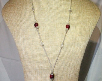 Jackie Necklace Blood Red