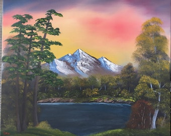 Inspired by Change of seasons of Bob Ross landscape