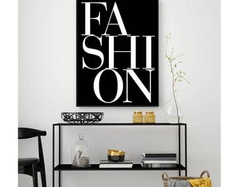 FASHION WALL ART, Fashion Letters Print, Digital Download, Printable Wall Art, Fashion Art Print, Letters Print, Fashion Printable, Fashion