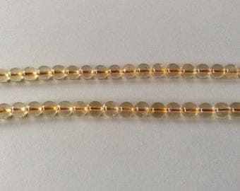 10 pearls round Citrine 6 mm