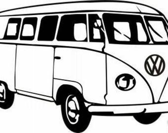 "P.V.C 200 Micron ""volkswagen combi"" stencil reusable 23 x 15 cm (possible other sizes)"