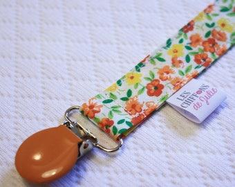Pacifier cotton orange flowers
