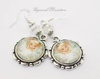 Earrings silver girl