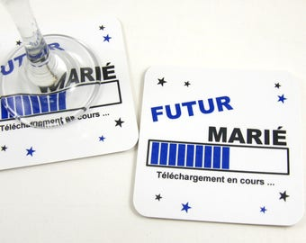 Table decoration EVJH gift future groom Deco table EVJG young man stag coaster coaster