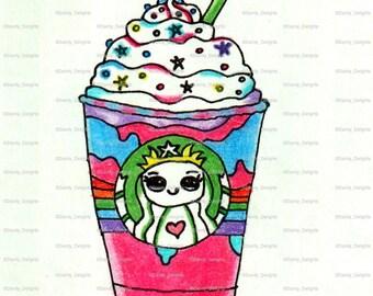 Unicorn Frappuccino print