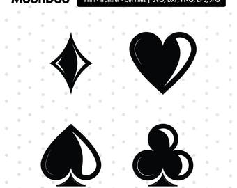 Card suits Svg, Playing Card Svg, Casino Svg,  Svg For Silhouette, Svg For Cricut, Card Suits Vinyl Decal, Monogram Svg, Card Suits Clipart