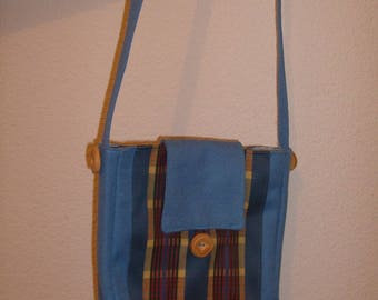 Blue bag with flap