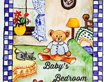 Baby's Bedroom wall decor Digital Print