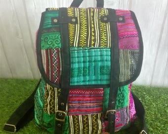 bohemian,Hmong bag,Handmade,Gift for Her or him,Gypsy,Boho bag,Patchwork,Multicolor,backpack,bag,festival,Hipster Boho,Tribal bag,funky bag