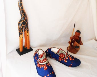 Slippers washable African light and soft 100% made in France